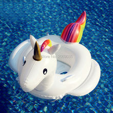 Baby Inflatable Unicorn Pool Float Pink Flamingo Swimming Ring White Swan Floating Water Holiday Party Toys For babies Piscina