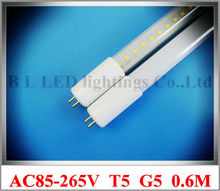New arrival AC85-265V input T5 G5 LED tube light lamp fluorescent LED tube 0.6M 2FT SMD2835 48led 9W 1000lm aluminum CE ROHS