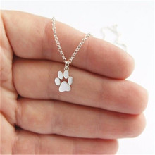 New Fashion Necklace Tassut Cat Dog Paw Print Animal Necklace for Women Pendant Long Cute Delicate Statement Necklace Party Gift(China)