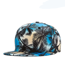 Summer Hot Fashion Trendy Unisex Man Woman Printed Coconut Tree Palm Beach Adjustable Holiday Outdoor Snapback Hat Baseball Cap(China)