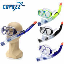 Copozz NEW Arrival 16 x 8cm Adult PVC Snorkel Combo Mask And Snorkel Set 3 Colors Snorkelling Diving Holiday