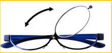 Fashion Blue Magnifying Makeup Eyeglasses Reading Glasses Readers one lens+1.50,+2.0,+2.5+3.00+3.5+4.0