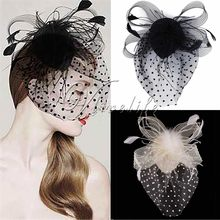 Hair Clip Hat Cocktail Hat Party Wedding supplies decoration mariage Fascinator Feather Lady Headband Handmade Church(China)
