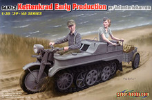 1/35 scale model Dragon 6341 Sd.Kfz.2 semi-track tractor-type pre-and small single-axis trailer(China)