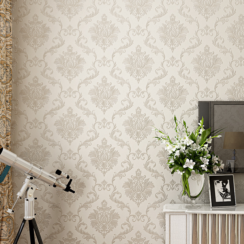 beibehang refined 3d 3d European nonwovens wallpaper Damascus wallpaper bedroom living room background wall papel de parede<br>
