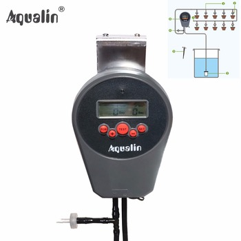 Automatic LCD Display Drip Irrigation Set Garden Water Timer Watering Kit with Built-in High Quality Membrane Pump #22078