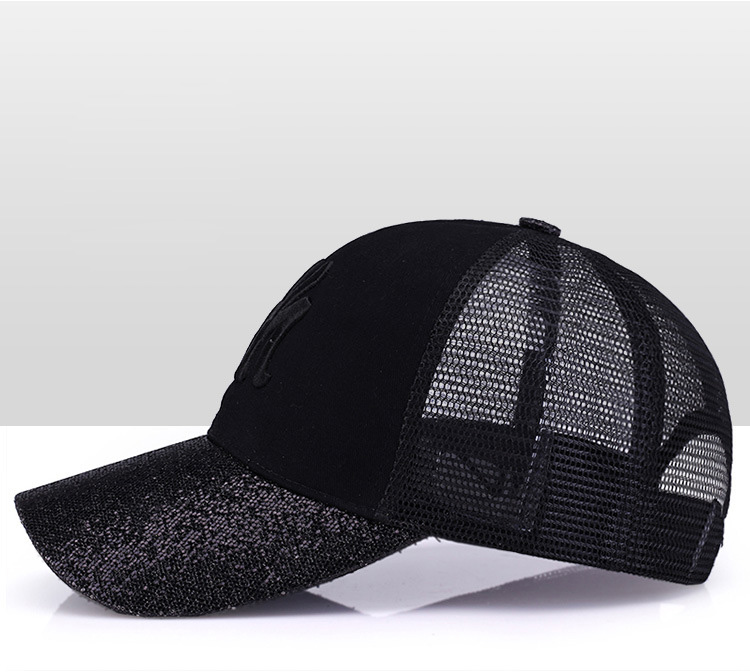 [Rancyword] 17 New Branded Baseball Caps Canada Women's Cap With Mesh Bone Hip Hop Lady Embroidery Hats Sequins RC1134 12
