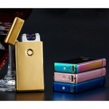 Enhanced Electric Rechargeable Lighter Dual Arc Flameless USB Cigarette Windproof Flameless Lighter With USB Cable