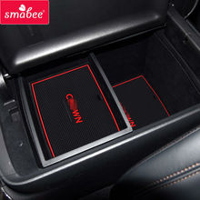 Gate slot pad for Toyota 2015 CROWN   rubber cup mat/pad Non-slip   Mats Interior Door Pad/Cup Mat car Interior accessories