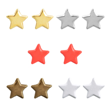 Hoomall 50PCs Brads Scrapbooking Decoration DIY  Metal Embellishments Crafts Star Scrapbooking Accessories Papers 14*12mm