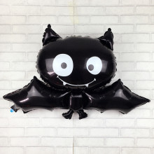 XXPWJ Free shipping 88cm * 64cm black bat Halloween foil balloon toys for children birthday party balloons  V-017
