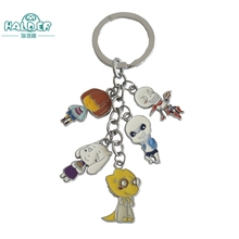 Halder Undertale Animals Games Five pcs Cosplay Figures Charms Key Chains Phone Strap Trinkets Accessories Gadgets Keychain(China)