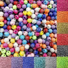 LNRRABC Sale 100 piece/lot 8mm Bright Shiny Round Acrylic Loose Spacer DIY Beads For Jewelry Findings Jewelry making Bracelet(China)