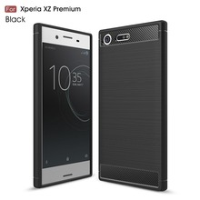10 Pcs/Lot, For Sony Xperia XZ / XA1 / XZs Case Hybrid Super armor Carbon Fiber Texture Brushed Silicone for Xperia XA1 Ultra(China)