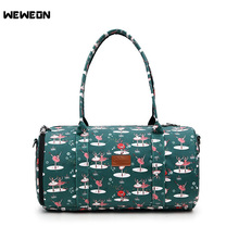 2017 New Waterproof Gym Bag Multi-Functional Sports Bag Travel Bags Ballet Printed Collapsible Bag Big Size