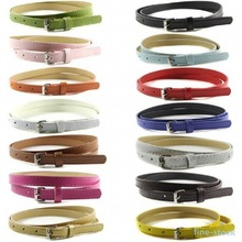 Belt Multi Color Thin Skinny Faux Leather Waistband Ladies Casual Strap Cinto Women Belts