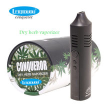 Leiqidudu Conqueror herbal Vaporizer herb dry Kit 2200mah Battery Vape Pen E cigarette vaper cigarette starter kit vaporisator(China)