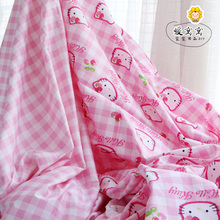 Lovely Hello kitty  cotton fabric for pajamas pillowslip quilt yard cloth bedding BY THE METER