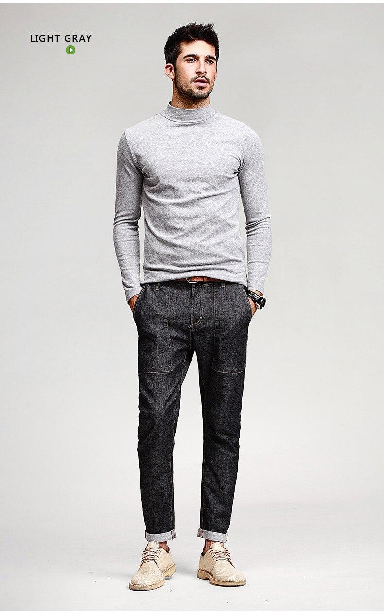 HTB1Ri0ANFXXXXaWXpXXq6xXFXXXq - KUEGOU Mens Casual T Shirts 5 Solid Color Brand Clothing For Man's Long Sleeve Slim T-Shirts Male Wear Plus Size Tops Tees 803
