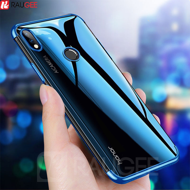 Plain Case For Huawei Honor 8C Case Soft Luxury Silicone Bumper Transparent TPU Clear Cover On Huawei Honor 8 C 8C Case(China)