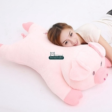 Dorimytrader 95cm Big New Soft Animal Pig Stuffed Doll 37'' Giant Cartoon Pink Pigs Stuffed Toy Pillow Baby Present DY61348