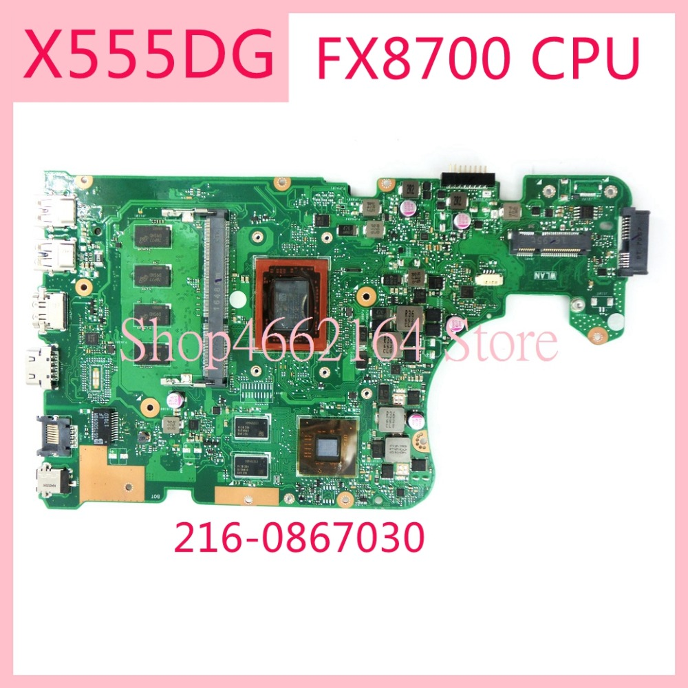 X555DG FX8700CPU /4GB RAM / 216-0867030 mainboard REV2.0 For ASUS X555D X555DG X555Y K555D Laptop motherboard MAIN BOARD