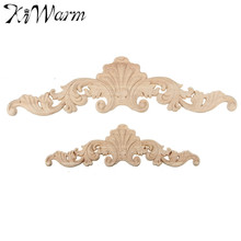 KiWarm 1PC Vintage Wood Carved Corner Onlay Applique Frame Doors Wall Decorate Furniture Decorative Figurines Wooden Miniatures(China)