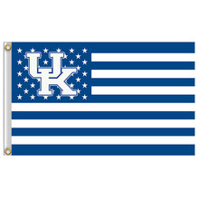 1 Pcs 90*150cm Kentucky Wildcats flag with Stars and Stripes 3ftx5ft Banner Polyester flag Metal Grommets Home Decor Accessories(China)