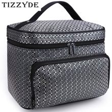 Diamond Lattice Big Cosmetic Bag Women Waterproof Professional Toiletry Kit Wash Necessaire Travel Organizer Make up Bags SZL62(China)