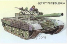Trumpeter 05599 Russian T-72B / B1 battle tanks linked contacts -1 additional armor