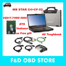 MB Star C4 SD Connect+CF52 4G+HDD 2017.7 dts Xentry Diagnostic System Compact 4 Mercedes Diagnosis Multiplexer For Benz Diagnose