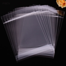 200pcs/lot-  Clear Self-adhesive bag OPP Poly Cello bags Hang Top Jewelry Bracelet Phone Case Packaging bag  (11cm-12cm)