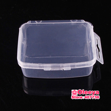 5pcs/lot Square Plastic Jewelry Boxes Acrylic Cosmetic Case NailArt Pill Box Portable Storage Container Parts Stones Tools Y2664