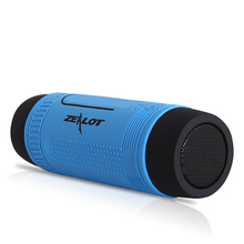 Portable Outdoor Bicycle Wireless Bluetooth Speaker Super Bass Loudspeaker Music Player LED Flashlight Lighting Built-in Mic