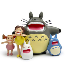 Toy Totoro Figures Shouting Cute Mini Model Japanese animation My Neighbor Totoro Toys(China)