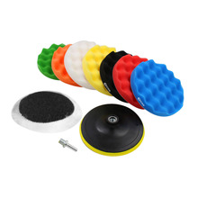 10 Pcs Car Polishing Pads Car-Styling Sponge Polishing Buffing Waxing Pad Kit For Car Polisher Buffer With Drill Adapter(China)