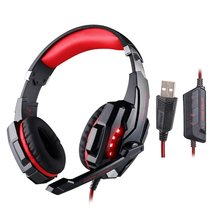 EACH G9000 Headset Gamer Gaming Headphones USB 7.1 Surround Sound Vibration with MIC/Microphone Headphones Luminous for PC Gamer