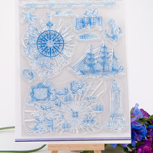Navigation Transparent Clear Silicone Stamp/Seal for DIY scrapbooking/photo album Decorative clear stamp(China)