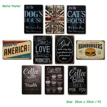 Metal Plate Tin Sign Metal Poster for Coffee Pub Club Gallery Poster Vintage Plaque Wall Cafe Decor Plate