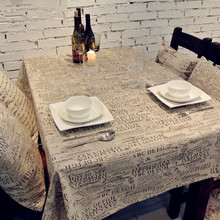 High Quality Table Cloth European Style Letter Linen Tablecloths Microwave Oven Dust Cover Tablecloth Home Textile