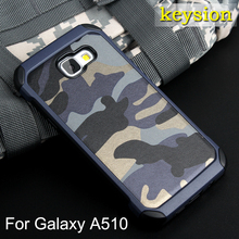 Fashion Camo Phone Case For Samsung Galaxy A5(2016) Plastic and TPU Hard Cover Camouflage Style Armor Protector A510 A510F Shell(China)