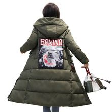 Hot sales full Large size outwear warm long jaket 3XL 2017 Female cotton parka Hooded collar thicken fashion women winter coat(China)