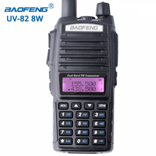 Baofeng UV-82 8W walkie talkie portable radio dual band transceiver High Mid Low Power UV82 Ham Radio Station amateur Portable(China)