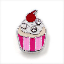 SL197 wholesales 10pcs ice cream Slide Charms 8mm Fit Can through 8mm band 8mm Pet Dog Cat Tag Collar Wristband SL197