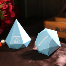 10pcs Best Wishes Diamond Wedding Candy Box Paper Sweet Ferrero Chocolate Holder Party Favors Gift Boxes