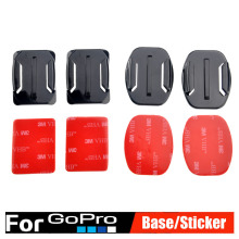Go pro Accessories Sticker Flat Curved Adhesive 3M VHB Mount surfboard surfaced helmets for GoPro HD Hero 2 3 3+ 4 Xiaomi Yi