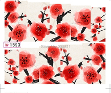 1X  Nail Art Water  Stickers Nail Decals Stickers Water Transfers Decal  Full Page Cover  Plum Flower SY1593