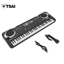 TSAI Multifunctional 61 Keys Digital Electronic Keyboard Piano Musical Toy Gifts Mic Records for Children Kids Beginners study