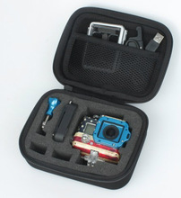 Waterproof Shockproof Storage Box Carry Case Accessories for GoPro Hero 3+3 2 Small Portable Camera Bag EVA Material