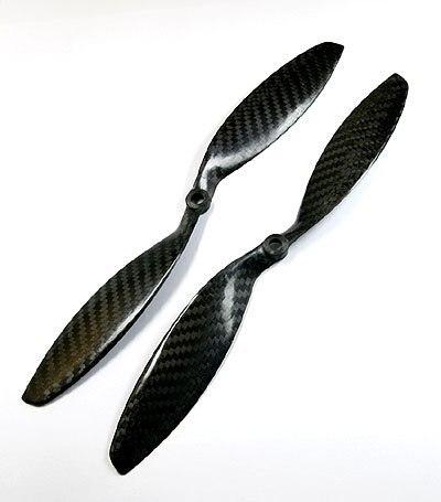 2pair/Lot 1238 Carbon fiber CW/CCW propeller 12X3....
